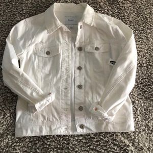 Ripped White Denim Jacket from Old Navy